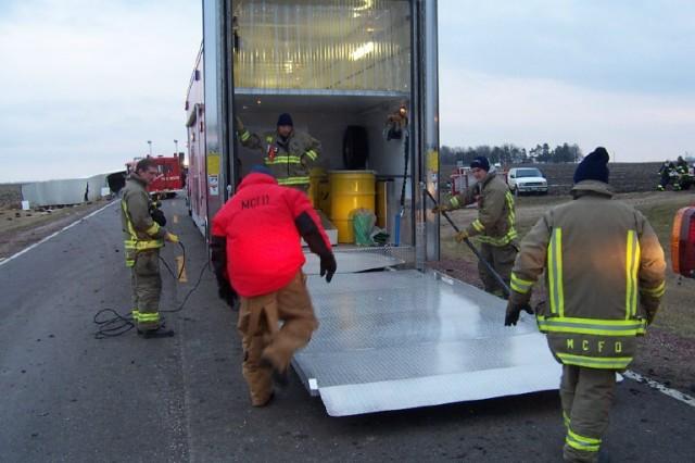 hazmat truck load